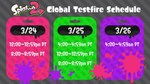 Videos of Splatoon 2's Global Testfire - Schedule