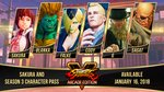 SFV new trailers, 30th Anniversary Collection - Season 3 Character Lineup