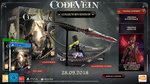 <a href=news_code_vein_to_launch_on_september_28-20074_en.html>Code Vein to launch on September 28</a> - Collector's Edition / Pre-Order Items