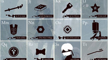 NieR: Automata gets complete edition for PS4/PC - Alphabet Poster