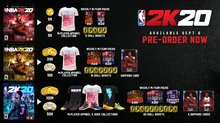 NBA 2K20 reveals first teaser and cover athletes - Pre-Order Infographic