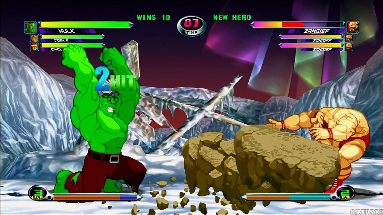 Marvel vs Capcom 2: Hulk vs Zangief - Gamersyde