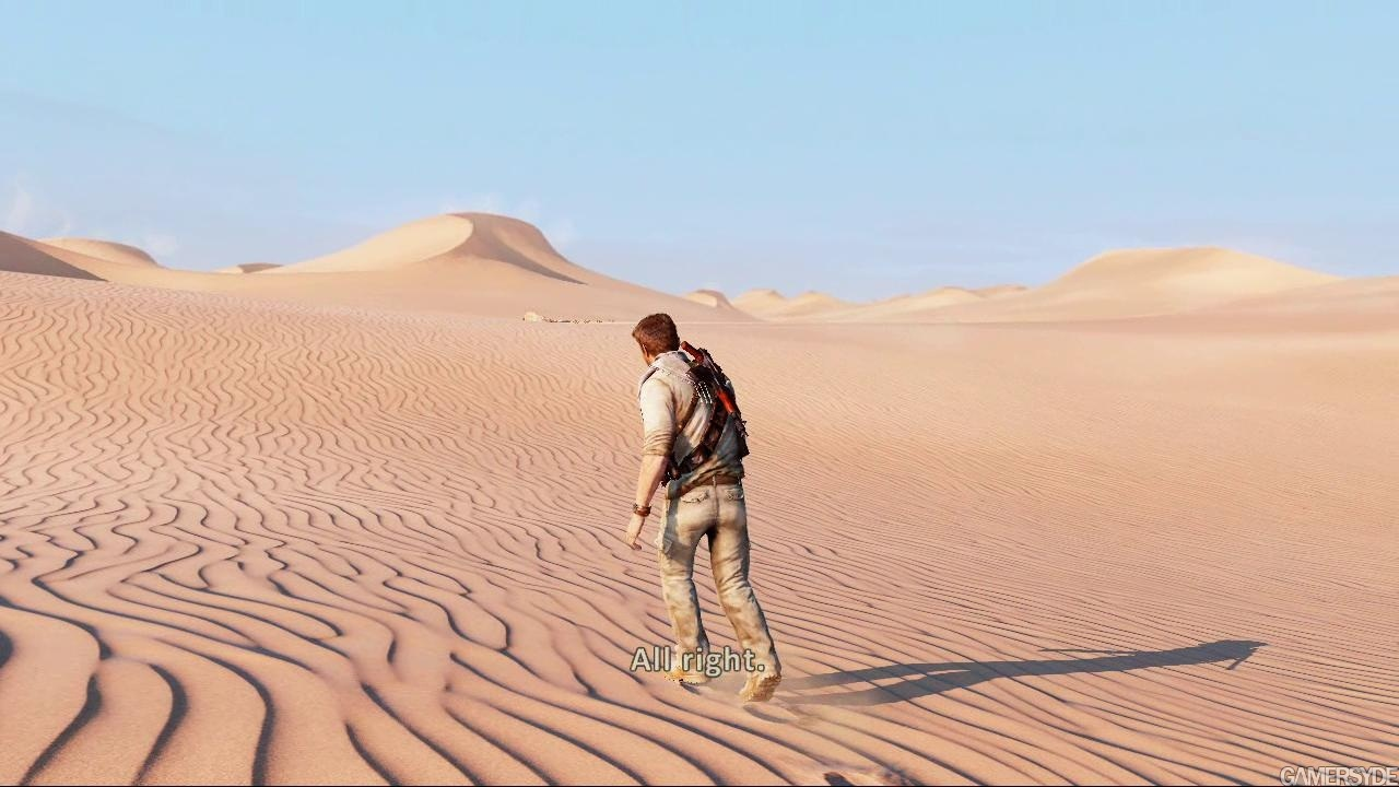 This image has been resized  Uncharted 3 Wallpaper Desert