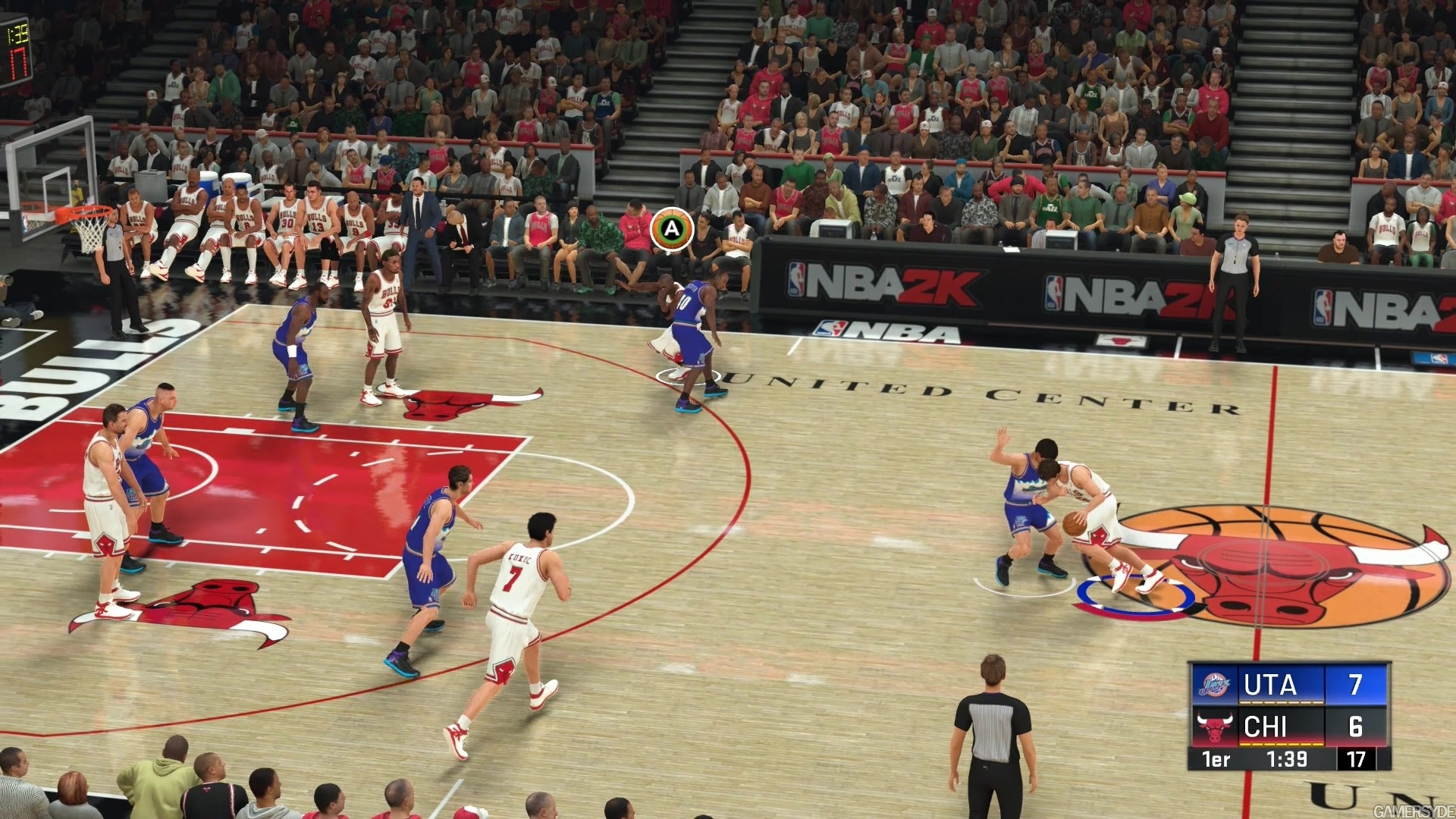 NBA 2K20 - PC - Bulls 98 vs Jazz 98 - First Half